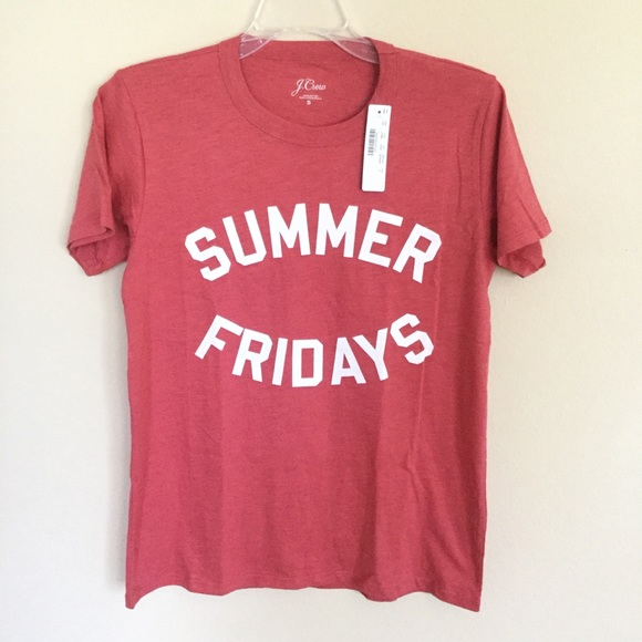 e3443c3393de J. Crew NEW Summer Fridays Red Tee Sz Small